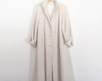Cream Wool Vintage Perry Ellis Coat