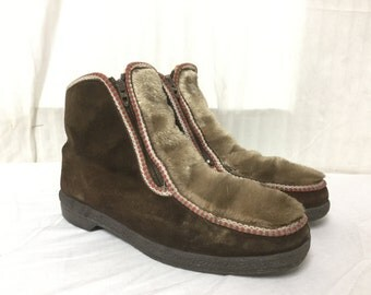 Free Ship, Eskimo boots,9, Faux Fur,Suede, Boots, Moccasins,Mukluks,Snow Boots,Nordic Russian,Hippie, Boho ,Winter Boots