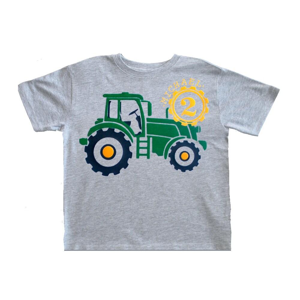 Tractor birthday shirt toddler tractor boys birthday for John deere shirts for kids