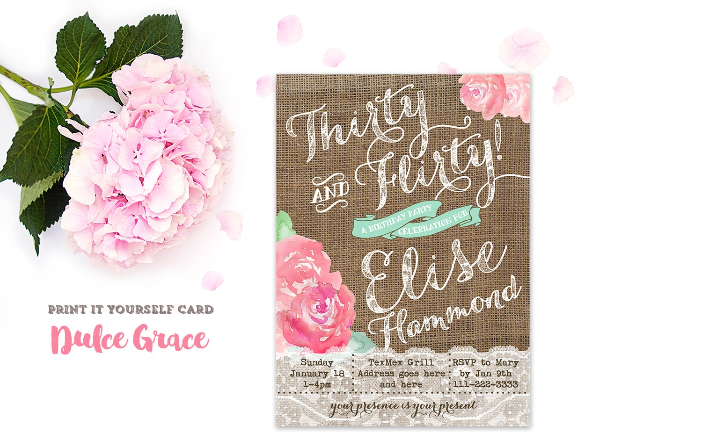 Flirty Invitation as perfect invitation layout