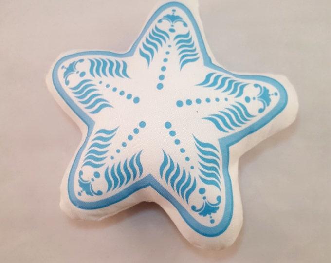 Plush White Starfish- Baby Rattle