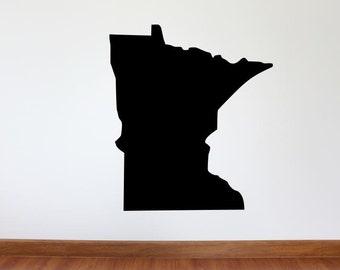 "Minnesota Wall Decal - 30"" x 27"" State of Minnesota Vinyl Wall Decal"