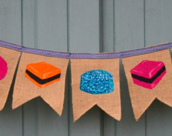 Sweets Liquorice Allsorts Bunting Garland Decoration