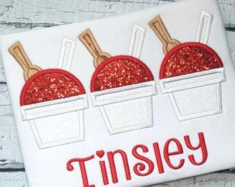 Snow Cone Applique Design - Snow Ball Applique Design - Summer Applique Design - Applique Design - Embroidery Design