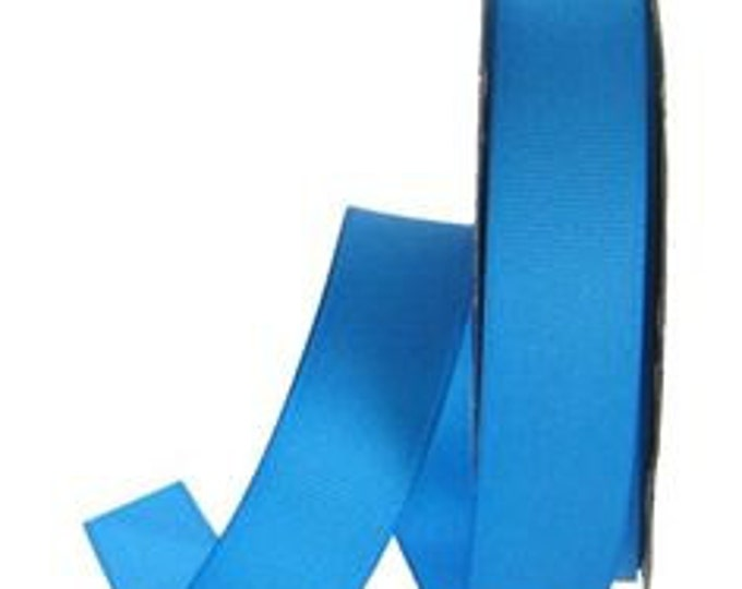 "Double Faced Playacar Blue Satin Ribbon - 7/8"" Wide - 100% Polyester - 7 Yard Spool"
