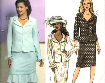 Butterick 4689 Misses Petite Jacket and Skirt Sewing Pattern