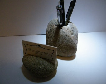 Pencil Holder Rock Pen Holder Rock  Business Card Holder Pencil Holder Rock Pen Holder