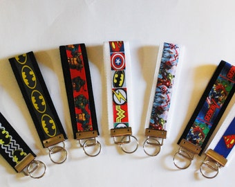 Super Hero, Comic Wristlet Keychain