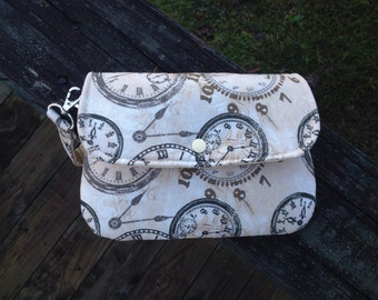 Clutch With Pouch and Wrist Strap