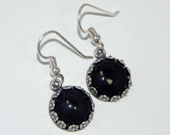 CLEARANCE - Onyx Dangle Earrings Onyx Earrings Onyx Drop Earrings