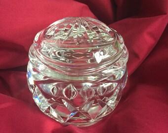 Crystal jar and lid