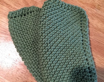 Knitted 100% cotton dishcloth