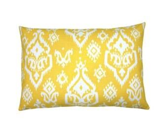 Pillowcase RAJI yellow white 40 x 60 cm Ikat line optics