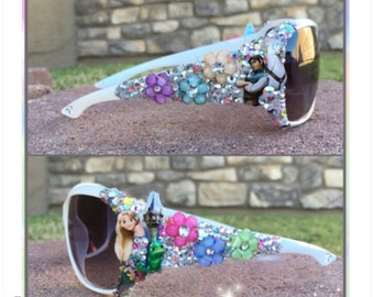 Long Haired Blondie Embellished Sunglasses