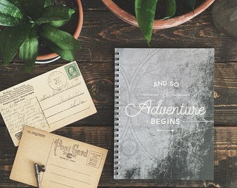 And So the Adventure Begins - 6 x 8 Notebook, Journal