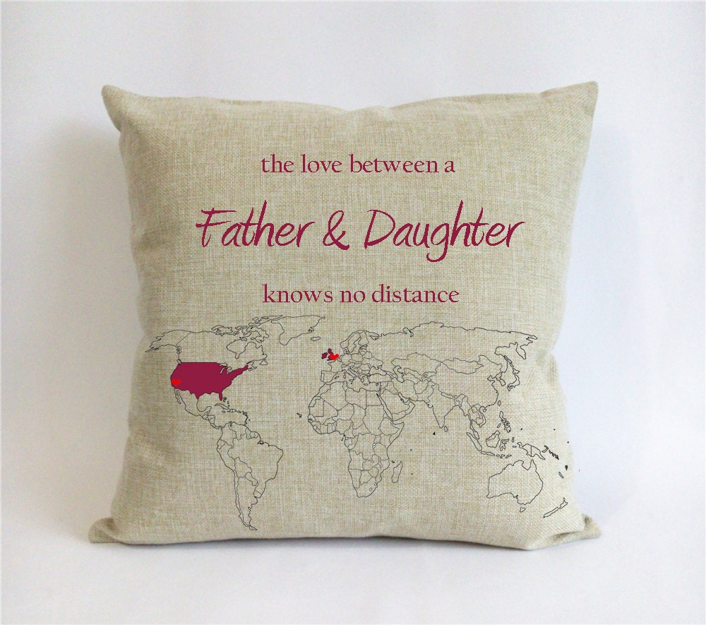 🔎zoom & long distance father daughter cushion cover-world map pillowsntoast.com