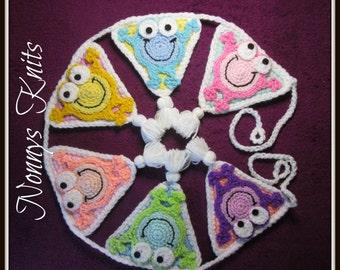 Crochet Frog Bunting