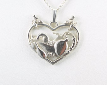 Sterling Silver Tabby Cat Necklace fr Donna Pizarro's Animal Whimsey Line of Fine Cat Jewelry, Silver Cat Pendants & Custom Cat Jewelry