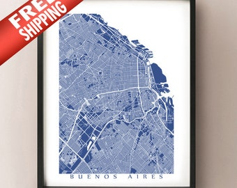 Buenos Aires Map Print
