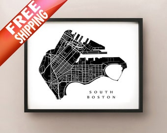 South Boston Neighborhood Map Print - Boston, Massachusetts