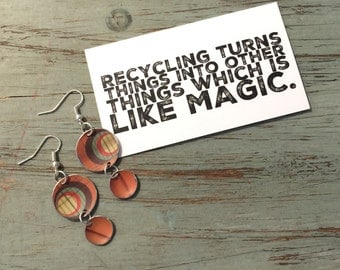 Recycled Tin Dangle Earrings