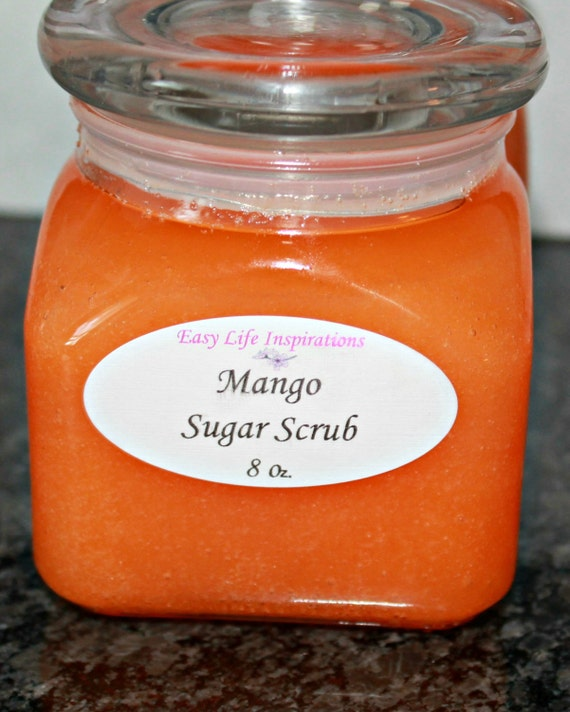 Mango Sugar Scrub Exfoliates and Polishes Your Body with Sugar ...