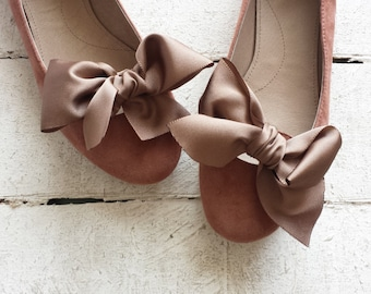 "Suede leather ballet flat ""TERESA"""
