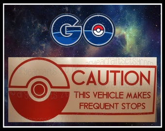 Caution: This Vehicle Makes Frequent Stops - Pokeball, PokemonGO!