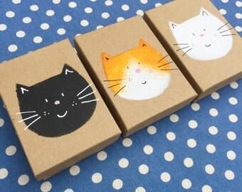 Hand Printed Fat Cat Gift Box