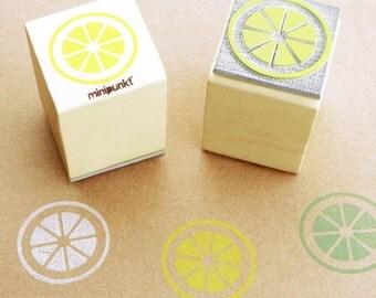 Stamp with lemon slice