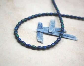 Azurite Oval Beads