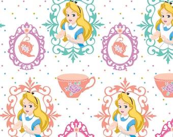 Disney Alice in Wonderland Teacups Fabric From Springs Creative