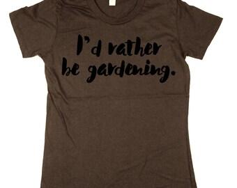 gardening T-shirt - gardener - womens t-shirt - organic cotton Shirt - Moss, Brown, Navy, Small, Medium, Large, XL