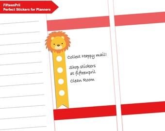 Safari animals check box Planner Stickers-B440