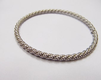 WELLS Sterling Twisted Bangle Bracelet Item W # 7