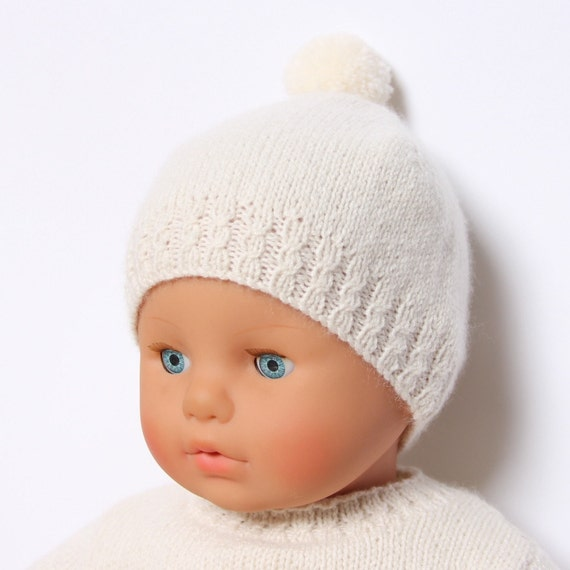Knitting Pattern Baby Hat 12 Months : Baby Hat / Knitting Pattern Instructions in by ...