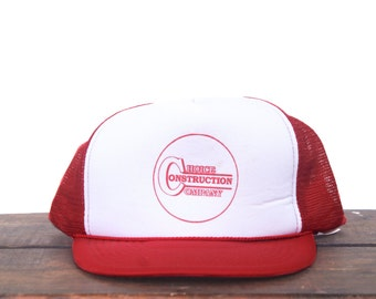 Vintage Choice Construction Company Trucker Hat Snapback Baseball Cap