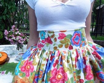 Midi Skirt - Plus Size High Waisted Skirt, Bridesmaid Skirt, Long Skirt, Tea Length Skirt, Circle Skirt, Full Skirt, A-line Skirt, 1950's