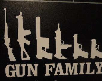 Gun Family Car Decal
