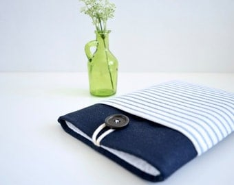Laptop Sleeve 15 inch Computer Cover 14 inch Computer Sleeve 13 inch - Blue Stripe
