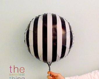 "18"" mylar striped balloons (set of 5)"