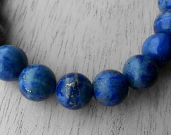 Marine blue lapis lazuli gemstone bracelet