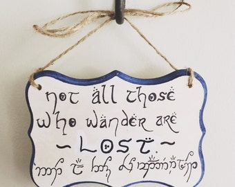 The Lord of the Rings quote wall sign