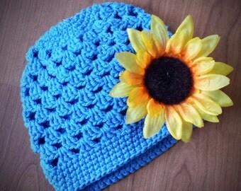 Sunflower Hat (6-12 months)