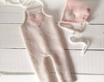 Cashmere Sweetheart Set - Newborn Photography Props