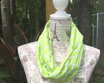 Regular lime green infinity scarf