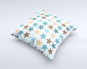 The Vector Colored Starfish V1 ink-Fuzed Decorative Throw Pillow