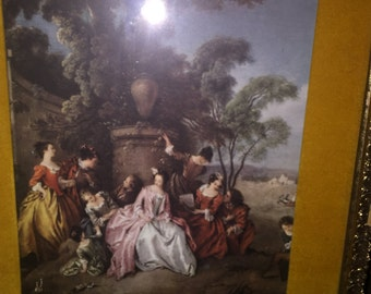"""Vintage TURNER WALL Accessory Colonial Ladies """"ROMANTICS"""" Picture"""
