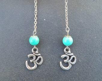 Earring ૐ Turquoise ethnic, Boho, Hippie, Zen