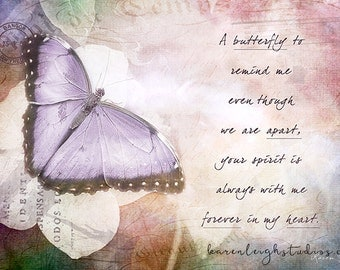 A Butterfly To Remind Me Print